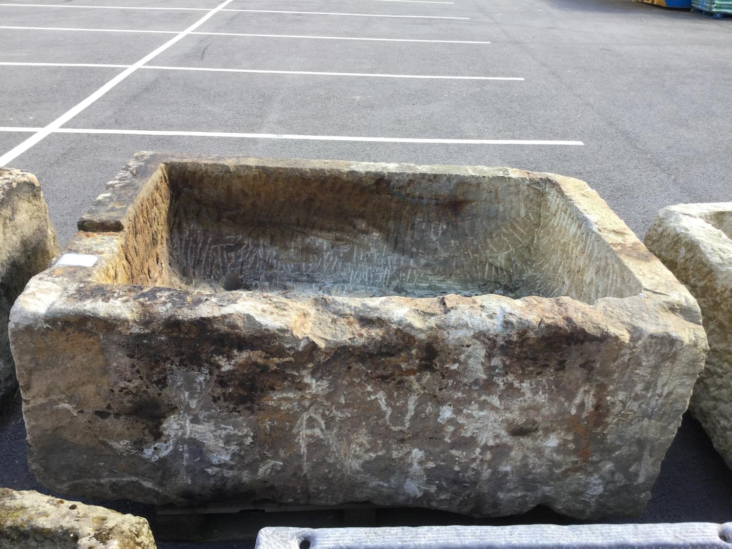 RECLAIMED YORKSHIRE GRIT STONE TROUGH