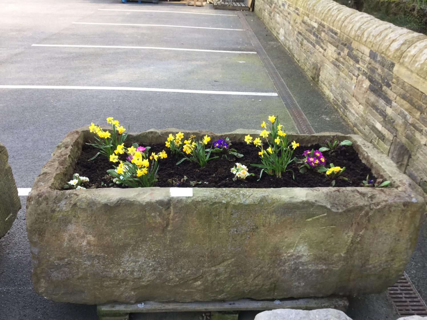YORKSHIRE SAND STONE TROUGH