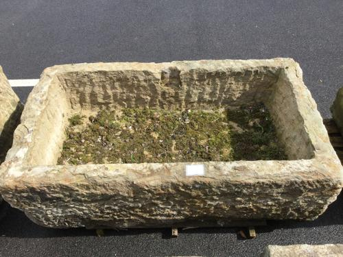 CHISEL FACED LARGE GRIT STONE TROUGH
