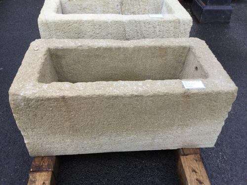 MILLSTONE GRIT STONE TROUGH CHISSEL FACED