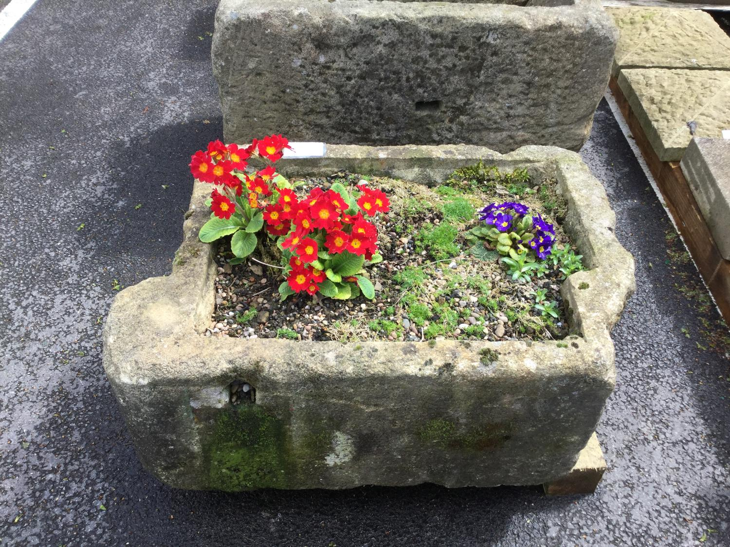 YORKSHIRE GRIT STONE TROUGH PLANTER RECLAIMED