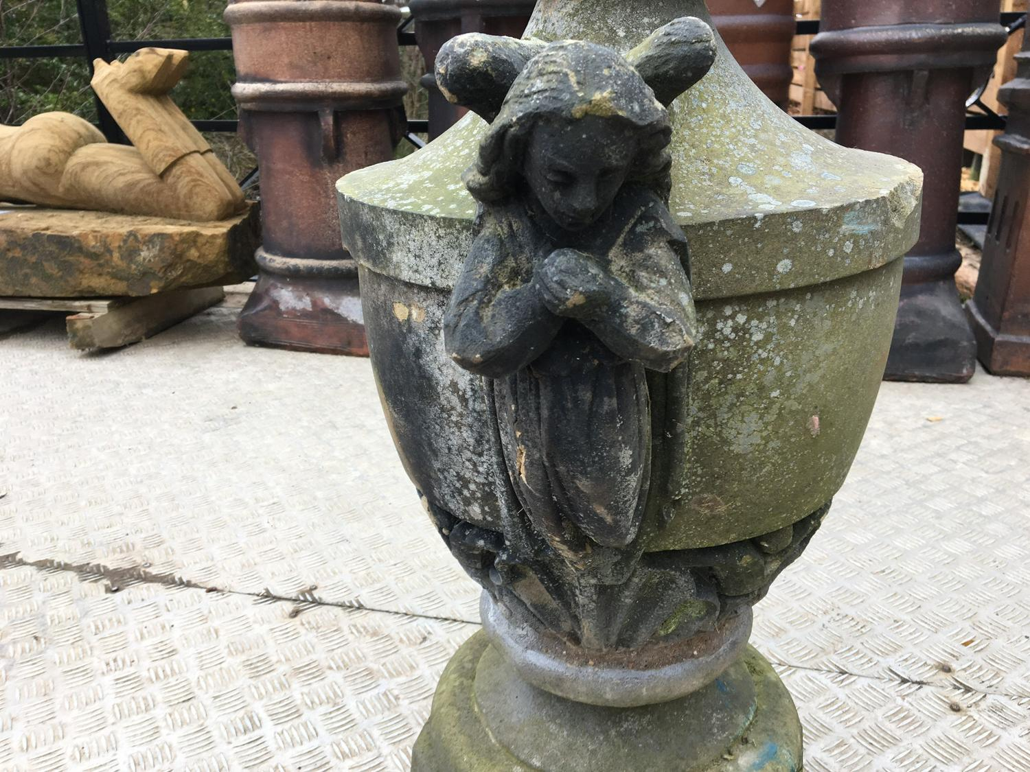 ANTIQUE VICTORIAN STONE URN/FINIAL