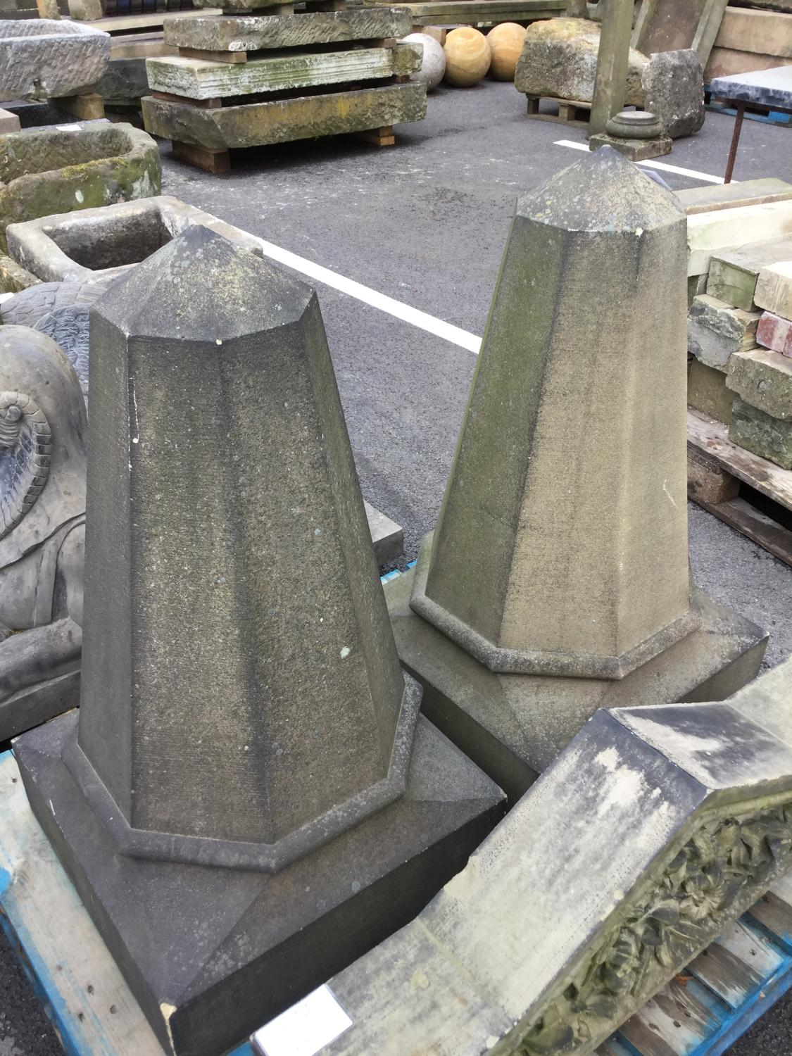 18TH CENTURY LARGE PIER CAPS