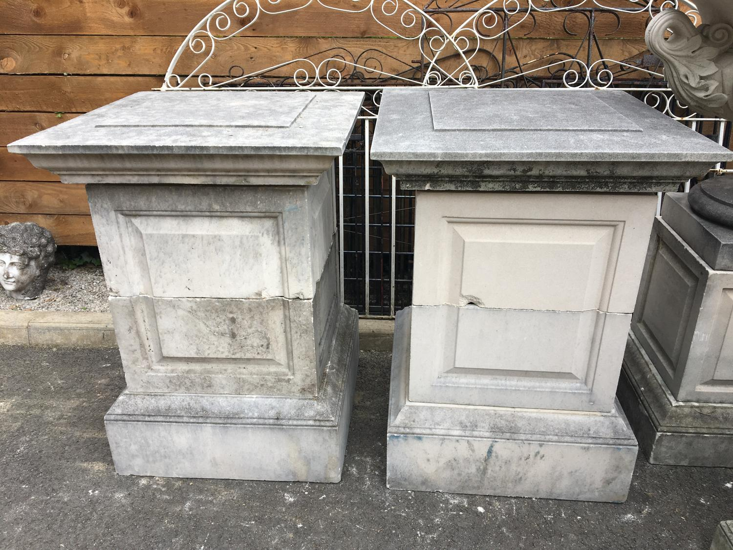 GRAND PAIR OF REGENCY DESIGN PLINTHS