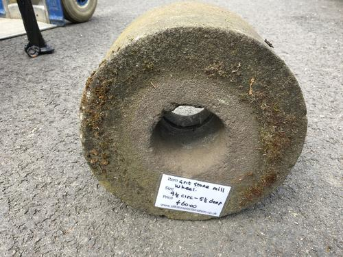 GRIT STONE MILL WHEEL