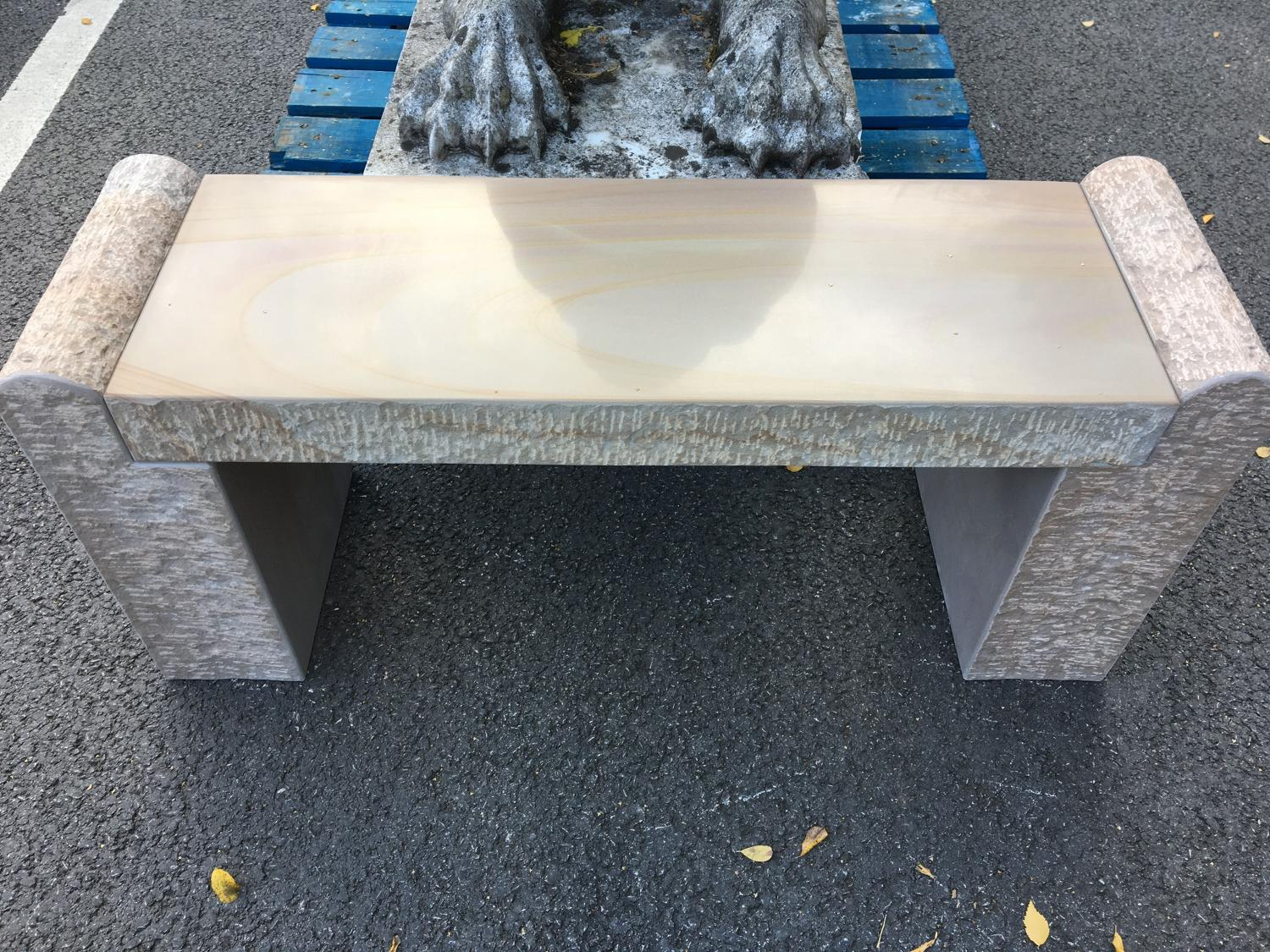 SAND STONE BENCH NEW