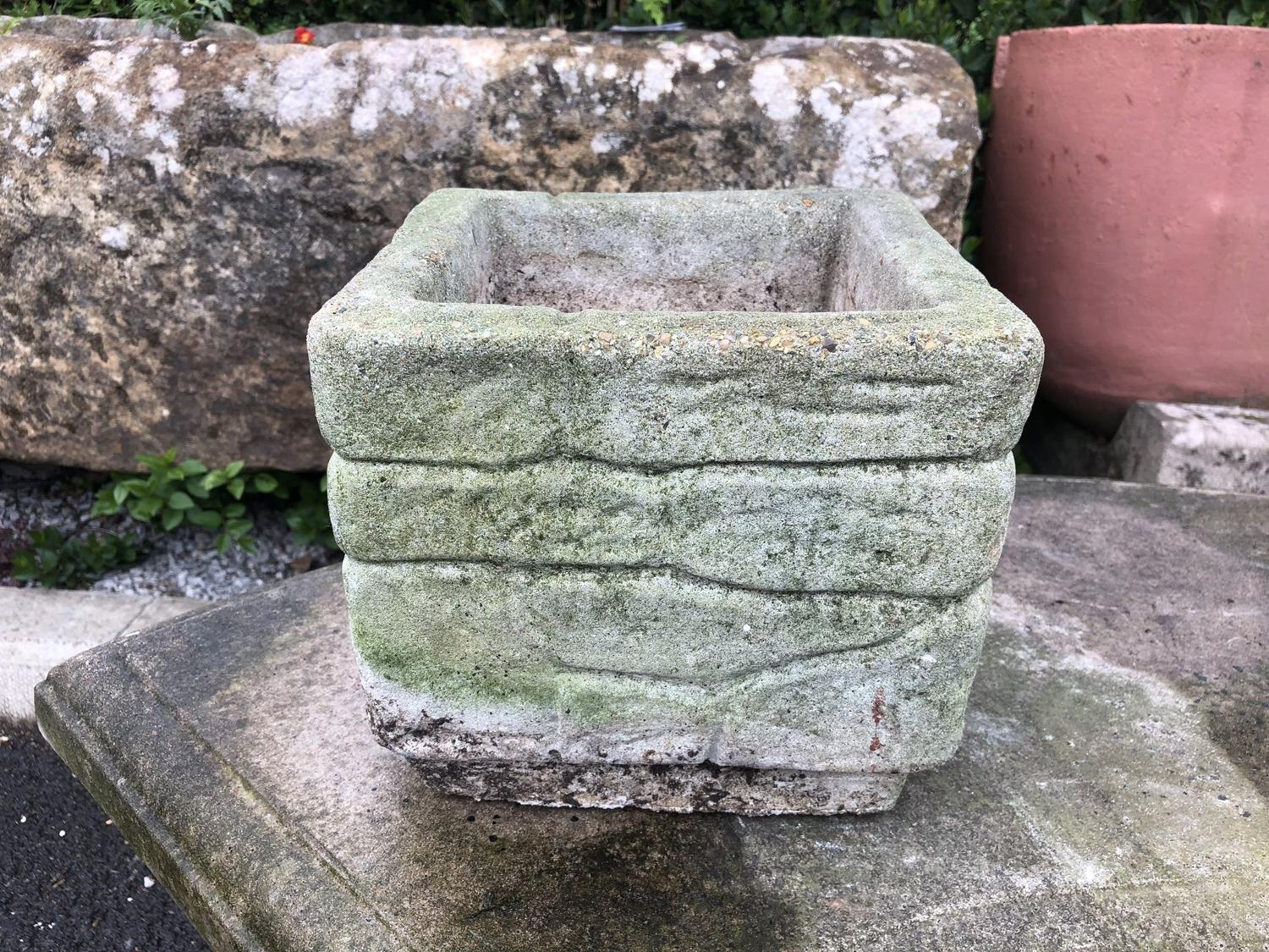 SMALL STONE CAST PLANTER