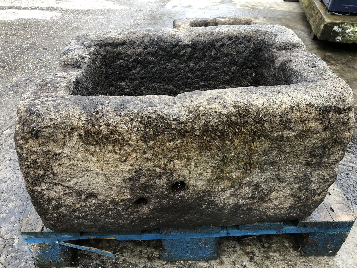 ANTIQUE GRIT STONE PIG TROUGH