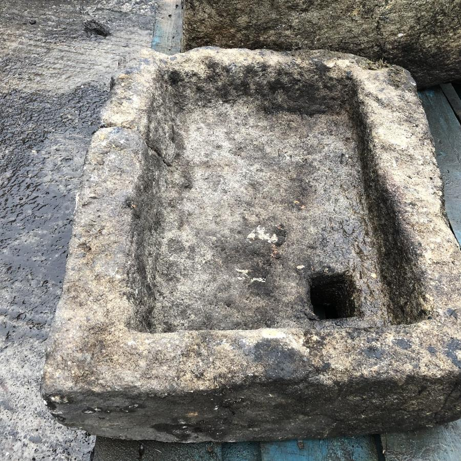 VICTORIAN YORKSHIRE SAND STONE PIG TROUGH