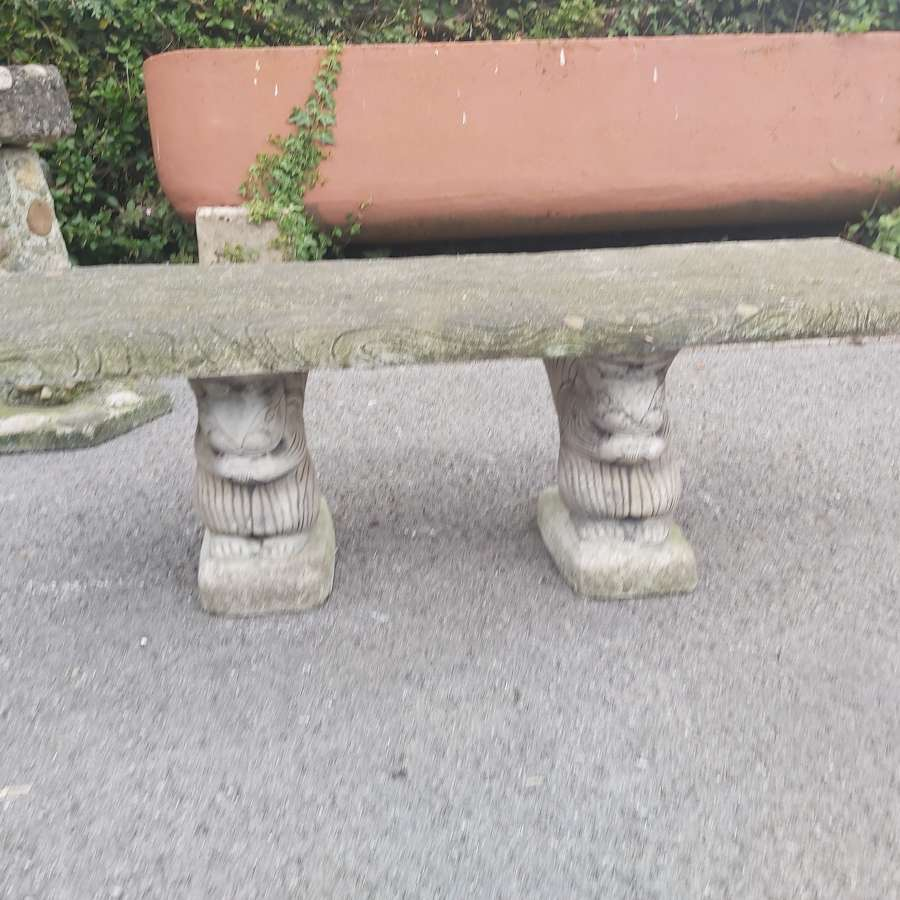 DECORATIVE CAST SQUIRREL BENCH