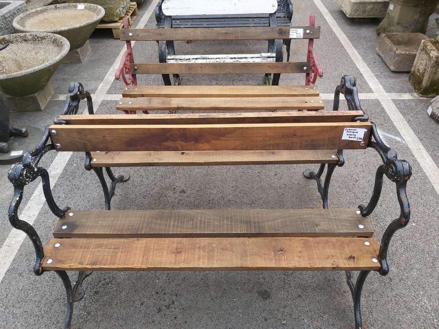 VICTORIAN REFURBISHED  KISSING BENCHES