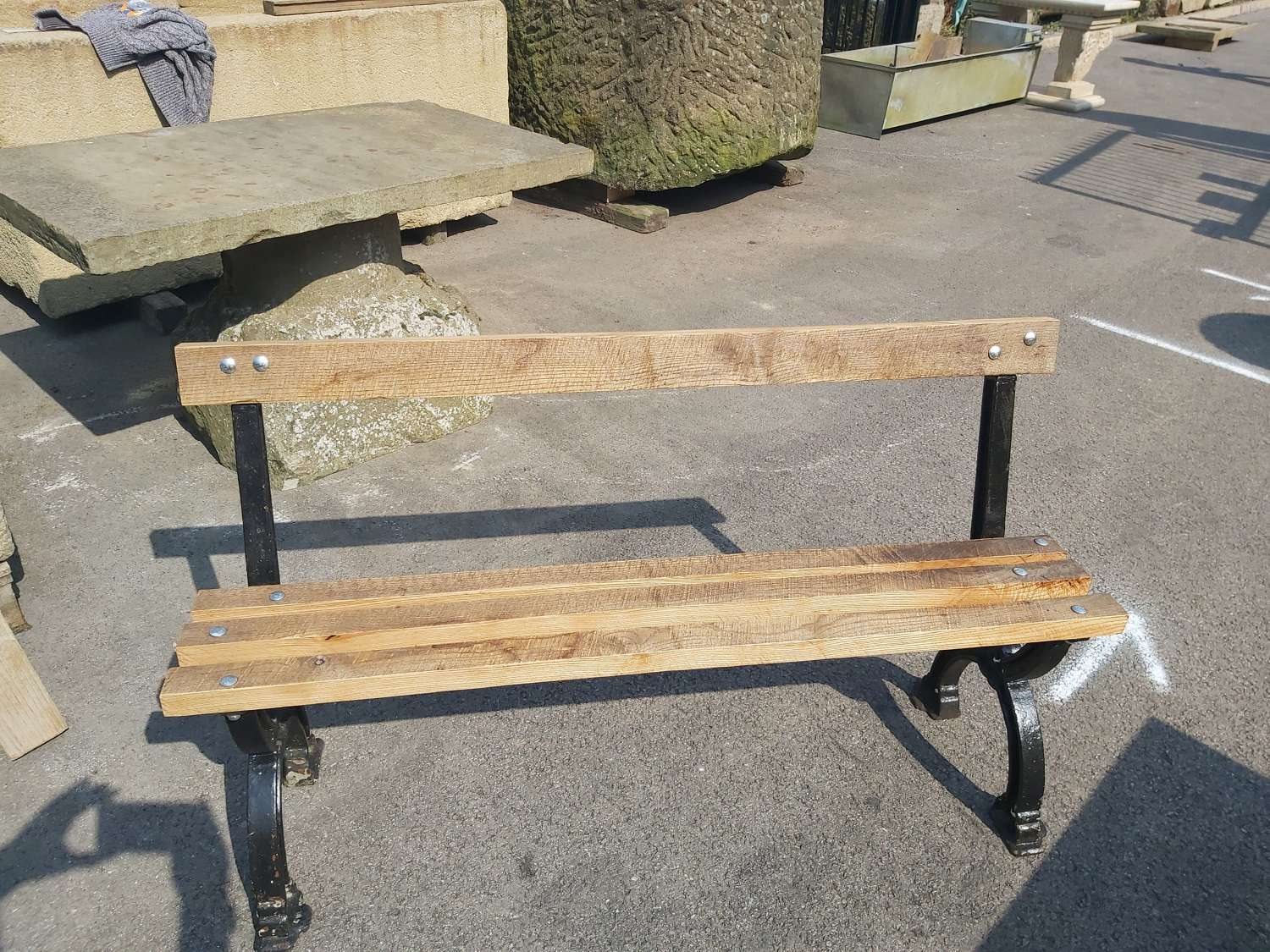 ANTIQUE GOTHIC STYLE BENCH