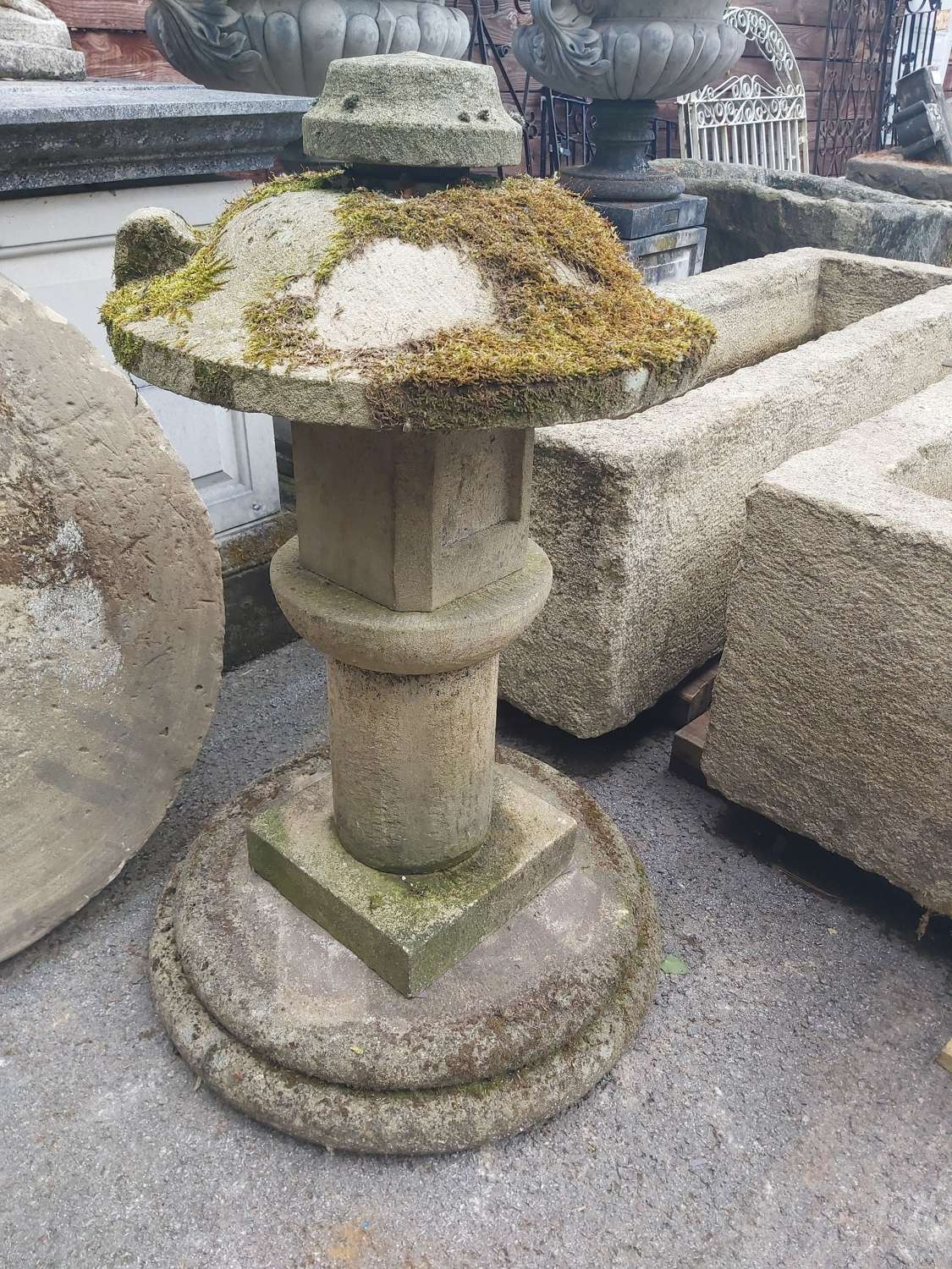 HAND CARVED STONE FEATURE