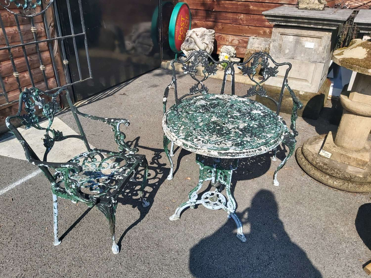 BISTRO SET WITH 2 SEATER BENCH AND CHAIR